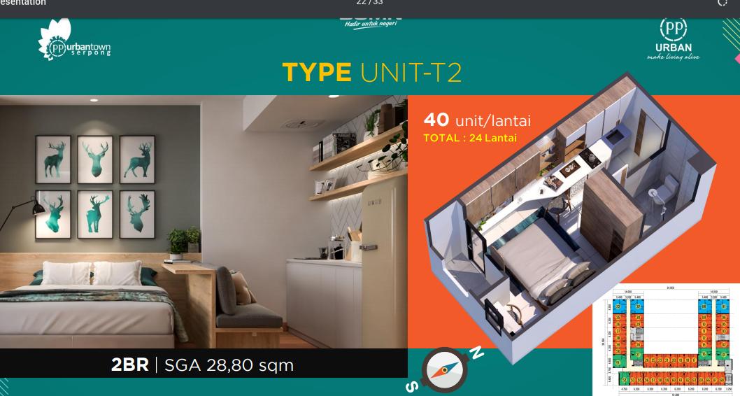 Apartemen Urbantown Serpong Tower 2: di jual Apartemen di Jl. Serua Raya No.29, Serua, Kec. Ciputat, KOTA TANGERANG SELATAN, BANTEN